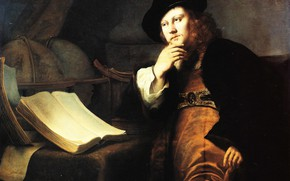 Картинка портрет, картина, Фердинанд Бол, Ferdinand Bol, Астроном