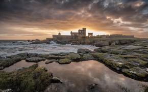 Картинка море, замок, берег