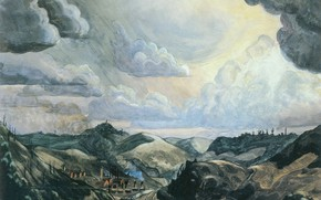Картинка 1920, Charles Ephraim Burchfield, Storm Over Irondale