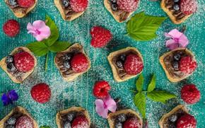Картинка ягоды, шоколад, орехи, десерт, прожное