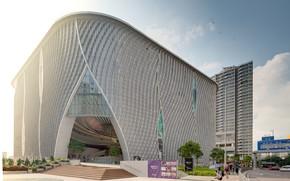 Картинка люди, сооружение, ступени, архитектура, Xiqu Theatre - Hong Kong
