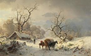 Картинка 1863, German painter, немецкий живописец, oil on canvas, Дюссельдорфская художественная школа, Düsseldorf school of painting, …