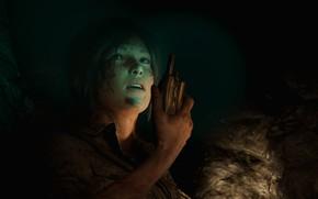 Картинка пещера, lara croft, рация, shadow of the tomb raider