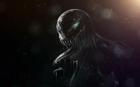 Картинка Язык, Зубы, Marvel, Веном, Venom, Симбиот, Creatures, Venom Fanart