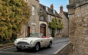 Картинка Aston Martin, улица, кабриолет, 1970, 2018, Heritage EV Concept, DB6 Mark II Volante