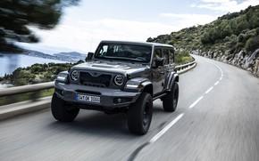 Картинка дорога, движение, Wrangler, Jeep, Unlimited, 2019, Militem, Ferōx