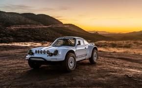 Картинка белый, купе, 911, Porsche, 964, 2019, 911 Baja Prototype, Russell Built Fabrication