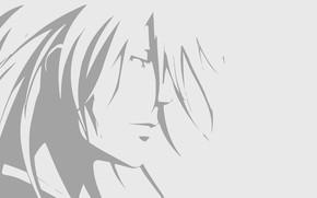 Картинка минимализм, силуэт, парень, Psycho Pass