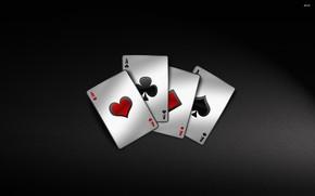 Картинка карты, игра, 4 туза