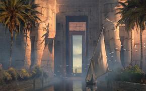 Картинка Raphael Lacoste, мультиплатформенная компьютерная игра, Assassin's Creed Origins, Entrance to Athor Temple