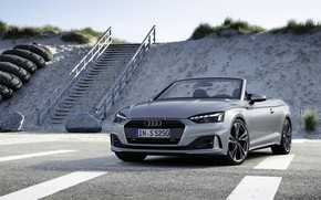 Картинка серый, Audi, лестница, кабриолет, Audi A5, A5, 2019, передом, A5 Cabriolet