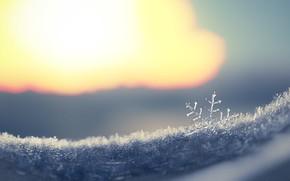 Картинка зима, снег, рендеринг, арт, снежинка, Snowflake, Fernando Antiqueira