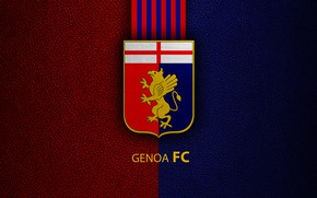 Картинка wallpaper, sport, logo, football, Genoa, Italian Seria A