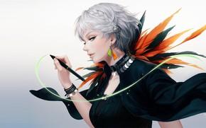 Картинка девушка, аниме, арт, Suda Ayaka