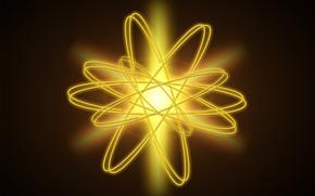 Картинка энергия, модель, атом