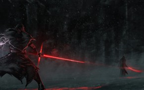 Картинка воин, арт, Звёздные Войны, световой меч