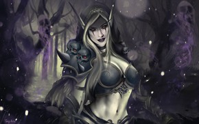 Картинка WOW, Blizzard, Art, WarCraft, Sylvanas Windrunner, Sylvanas, World of WarCraft, by Toni Spagnoletti, Toni Spagnoletti