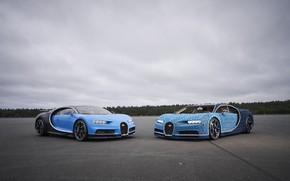 Картинка Blue, Lego, Gipercar, Bugatti Chiron
