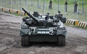 Картинка танк, полигон, ОБТ, Т-80У, бронетехника России