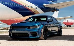 Картинка Самолет, Dodge, Charger, Hellcat, SRT, 2020, Dodge Charger SRT, Hellcat widebody