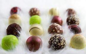 Картинка шоколад, конфеты, chocolate, candy, пралине
