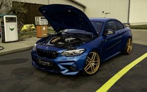 Картинка синий, BMW, G-Power, под капотом, F87, M2, 2019, M2 Competition, G2M Bi-Turbo