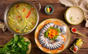Картинка еда, рыба, сервировка