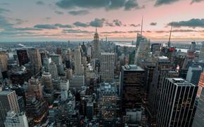 Картинка Нью-Йорк, США, небоскрёбы, мегаполис, New York, NYC