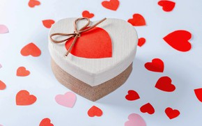 Картинка подарок, романтика, сердце, Valentine's Day