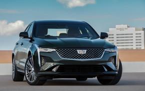 Картинка Cadillac, седан, спереди, четырёхдверный, 2020, CT4
