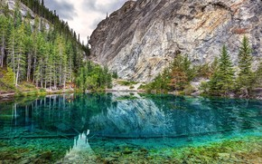 Картинка Alberta, Canada, near the town of Canmore, Grassi Lakes