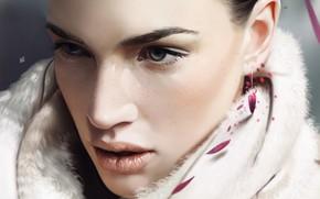Картинка взгляд, лицо, модель