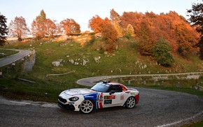 Картинка скорость, ралли, подъём, 2018, Abarth, 124 Rally