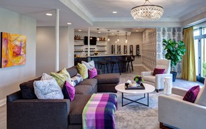 Картинка интерьер, кухня, гостиная, Chicago Suburban Home