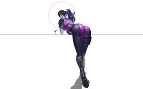 Картинка Girl, Fantasy, Blizzard, Sexy, Art, Style, Minimalism, Figure, Overwatch, Widowmaker, Character, HL Z