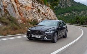 Картинка дорога, горы, Jaguar, универсал, Jaguar XF, 2020, XF, XF Sportbrake