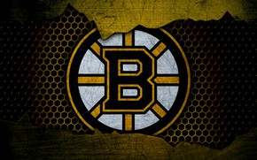 Картинка wallpaper, sport, logo, NHL, hockey, Boston Bruins