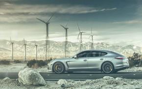 Картинка дорога, горы, транспорт, Porsche, автомобиль