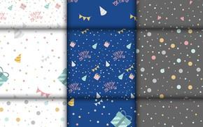 Картинка белый, синий, фон, подарки, Background, Pattern