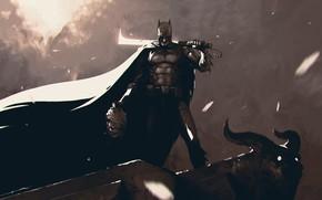 Картинка Fantasy, Art, Batman, Фантастика, Joker, Sword, ömer tunç, by Omer Tunc, Omer Tunc, Batman and …