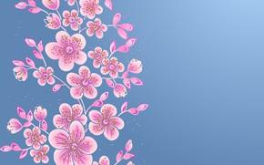 Картинка цветы, фон, текстура, Vintage, Floral
