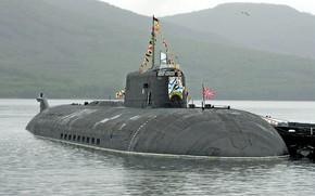 Картинка подводный, крейсер, атомный, ракетный, проект 949а, вилючинск