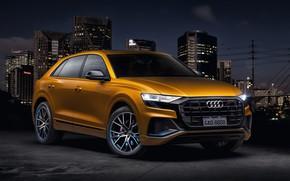 Картинка Audi, quattro, TFSI, S line, 2019, Q8 55