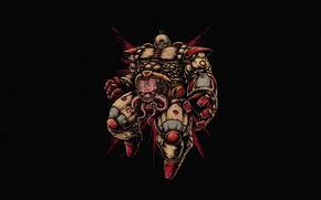 Картинка Минимализм, Стиль, Фон, Черепашки-ниндзя, Арт, Art, Style, TMNT, Teenage Mutant Ninja Turtles, Background, Helix, Minimalism, …
