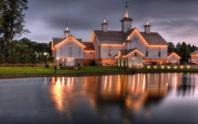 Картинка огни, вечер, Пенсильвания, West Donegal Township