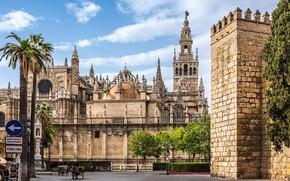 Картинка город, архитектура, Испания, дворец, Севилья, Cathedral of Seville