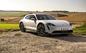 Картинка поле, поля, Porsche, Cross Turismo, 2021, Porsche Taycan, Taycan 4S, E-Performance