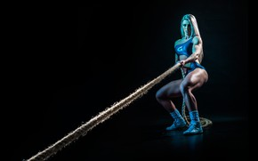 Картинка model, workout, fitness, rope