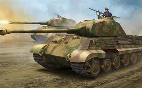 Картинка Königstiger, Panzerkampfwagen VI Ausf. B, Тигр II, немецкий тяжёлый танк, Башня Порше