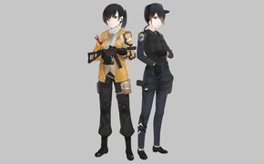 Картинка оружие, девушки, солдаты